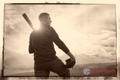 Baseball Player Senior Portrait at Garden of the Gods